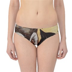 Owl And Black Cat Hipster Bikini Bottoms