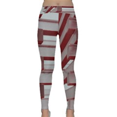 Red Sunglasses Art Abstract Classic Yoga Leggings by Nexatart