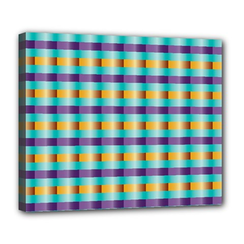 Pattern Grid Squares Texture Deluxe Canvas 24  X 20   by Nexatart