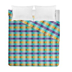Pattern Grid Squares Texture Duvet Cover Double Side (full/ Double Size)
