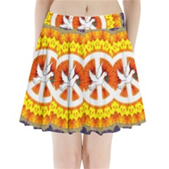 Peace Art Artwork Love Dove Pleated Mini Skirt