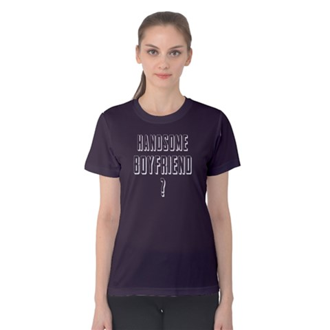 Handsome Boyfriend - Women s Cotton Tee by FunnySaying