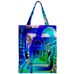 Security Castle Sure Padlock Zipper Classic Tote Bag