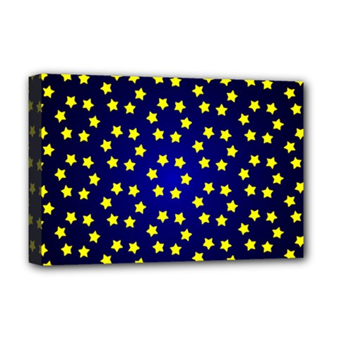 Star Christmas Yellow Deluxe Canvas 18  X 12   by Nexatart