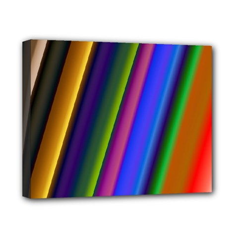 Strip Colorful Pipes Books Color Canvas 10  X 8