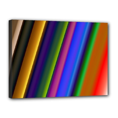 Strip Colorful Pipes Books Color Canvas 16  X 12  by Nexatart