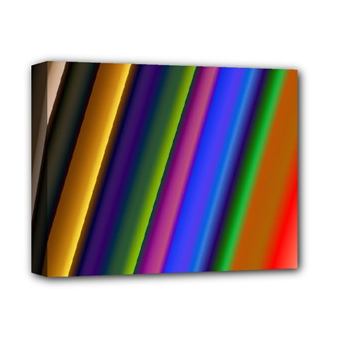 Strip Colorful Pipes Books Color Deluxe Canvas 14  X 11  by Nexatart