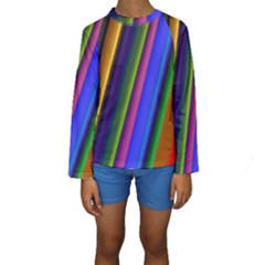 Strip Colorful Pipes Books Color Kids  Long Sleeve Swimwear by Nexatart