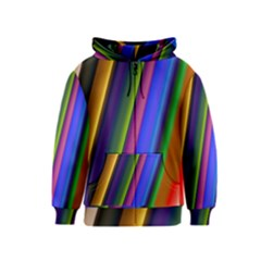 Strip Colorful Pipes Books Color Kids  Zipper Hoodie by Nexatart