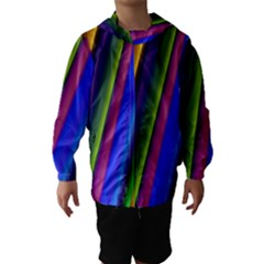 Strip Colorful Pipes Books Color Hooded Wind Breaker (kids)
