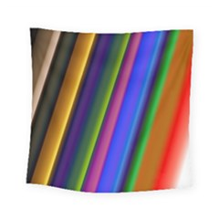 Strip Colorful Pipes Books Color Square Tapestry (small) by Nexatart