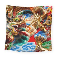 Thailand Bangkok Temple Roof Asia Square Tapestry (large)
