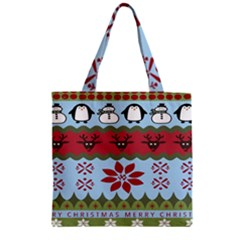 Ugly Christmas Xmas Zipper Grocery Tote Bag by Nexatart