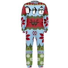 Ugly Christmas Xmas Onepiece Jumpsuit (men)  by Nexatart