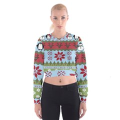 Ugly Christmas Xmas Women s Cropped Sweatshirt by Nexatart