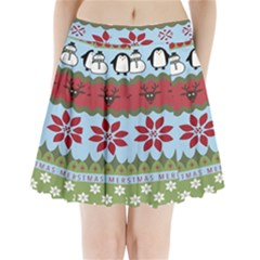Ugly Christmas Xmas Pleated Mini Skirt by Nexatart