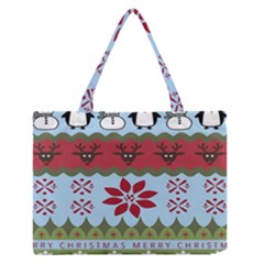 Ugly Christmas Xmas Medium Zipper Tote Bag by Nexatart