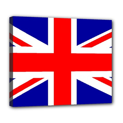 Union Jack Flag Deluxe Canvas 24  X 20   by Nexatart