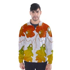 Vector Beautiful Maple Leaf Wind Breaker (men) by Nexatart