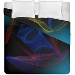 Lines Rays Background Light Pattern Duvet Cover Double Side (king Size)