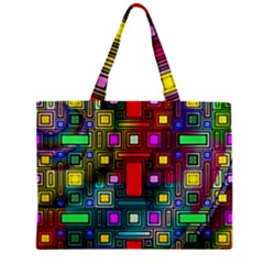 Art Rectangles Abstract Modern Art Zipper Mini Tote Bag