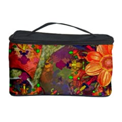 Abstract Flowers Floral Decorative Cosmetic Storage Case by Nexatart