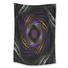 Abstract Fractal Art Large Tapestry by Nexatart