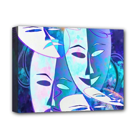 Abstract Mask Artwork Digital Art Deluxe Canvas 16  X 12   by Nexatart