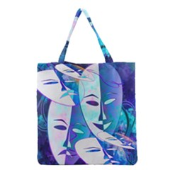 Abstract Mask Artwork Digital Art Grocery Tote Bag by Nexatart