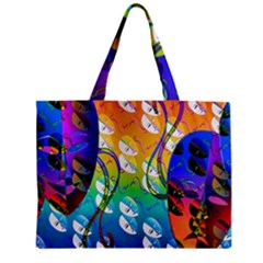 Abstract Mask Artwork Digital Art Zipper Mini Tote Bag by Nexatart