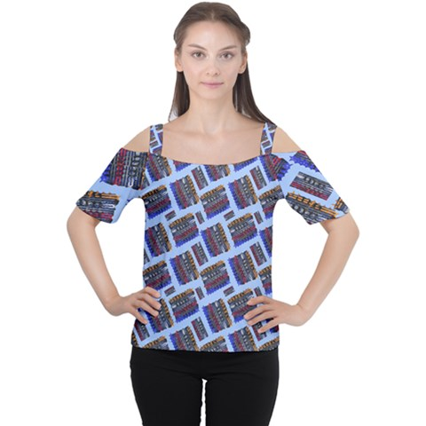 Abstract Pattern Seamless Artwork Women s Cutout Shoulder Tee by Nexatart
