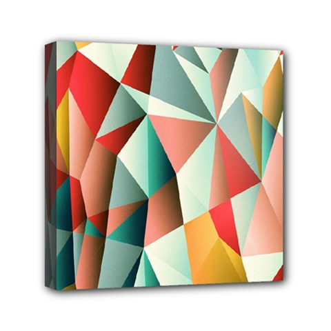 Abstracts Colour Mini Canvas 6  X 6