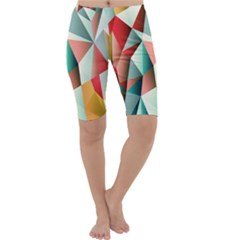 Abstracts Colour Cropped Leggings  by Nexatart