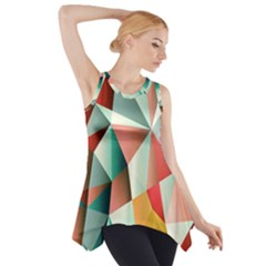 Abstracts Colour Side Drop Tank Tunic by Nexatart