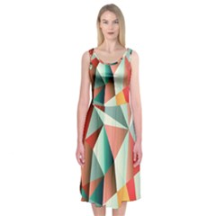 Abstracts Colour Midi Sleeveless Dress