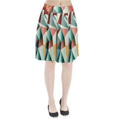 Abstracts Colour Pleated Skirt