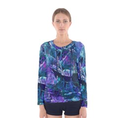 Abstract Ship Water Scape Ocean Women s Long Sleeve Tee