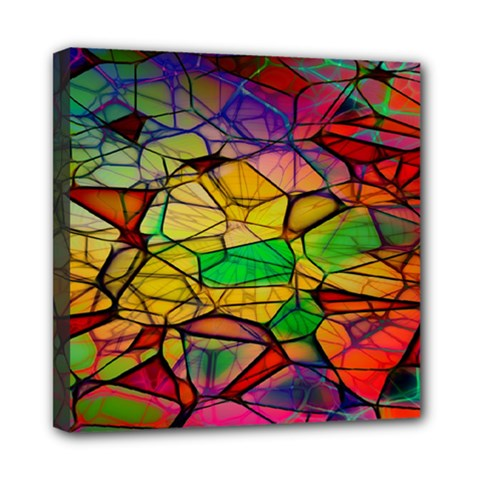 Abstract Squares Triangle Polygon Mini Canvas 8  X 8  by Nexatart