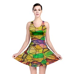 Abstract Squares Triangle Polygon Reversible Skater Dress by Nexatart