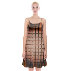 Abstract Texture Background Pattern Spaghetti Strap Velvet Dress