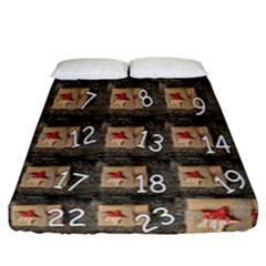 Advent Calendar Door Advent Pay Fitted Sheet (california King Size) by Nexatart