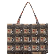 Advent Calendar Door Advent Pay Medium Zipper Tote Bag by Nexatart