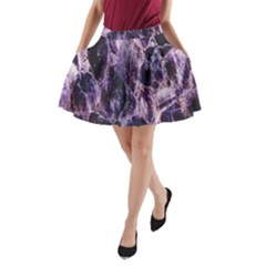 Agate Naturalpurple Stone A Line Pocket Skirt