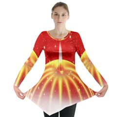 Advent Candle Star Christmas Long Sleeve Tunic