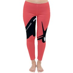 Air Plane Boeing Red Black Fly Classic Winter Leggings