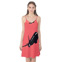 Air Plane Boeing Red Black Fly Camis Nightgown