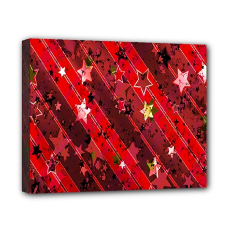 Advent Star Christmas Poinsettia Canvas 10  X 8