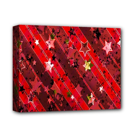 Advent Star Christmas Poinsettia Deluxe Canvas 14  X 11