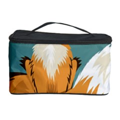Animal Wolf Orange Fox Cosmetic Storage Case