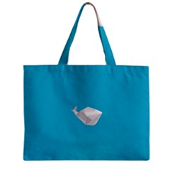 Animals Whale Blue Origami Water Sea Beach Mini Tote Bag